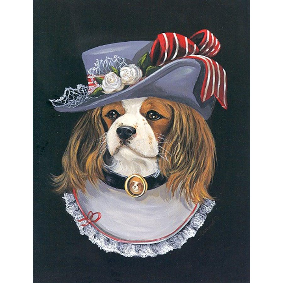 Precious Pet Paintings 1.5-ft x 1.04-ft Cavalier King Charles Spaniel  Flag