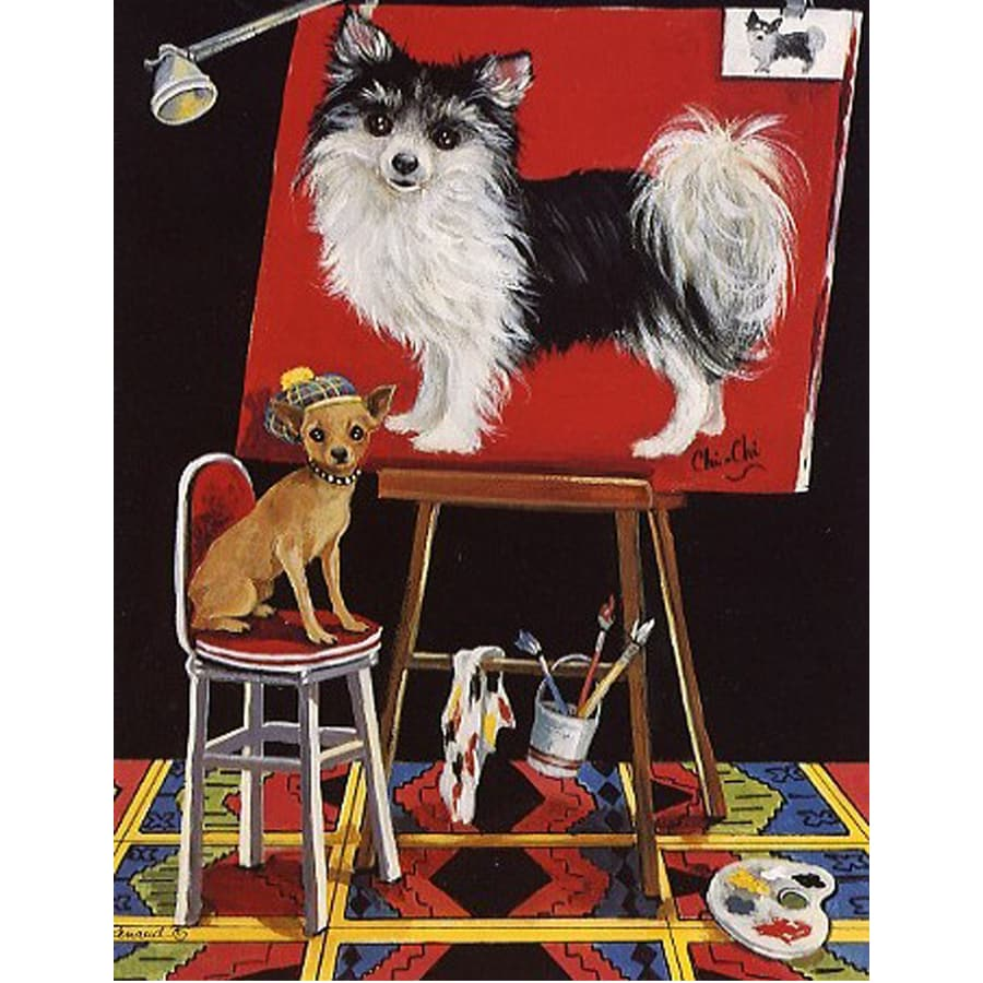 Precious Pet Paintings 1.5-ft x 1.04-ft Chihuahua  Flag