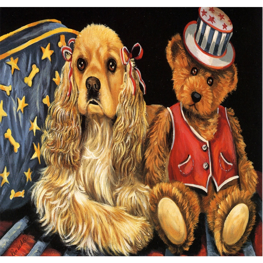 Precious Pet Paintings 1.5-ft x 1.04-ft Cocker Spaniel  Flag