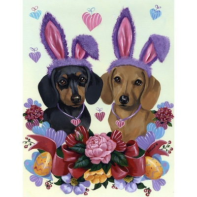 Precious Pet Paintings Dachshund 1 04 Ft W X 1 5 Ft H