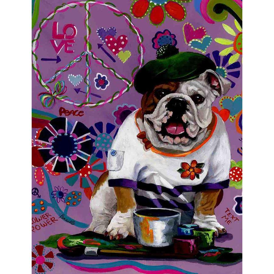 Precious Pet Paintings 1.5-ft x 1.04-ft English Bulldog  Flag