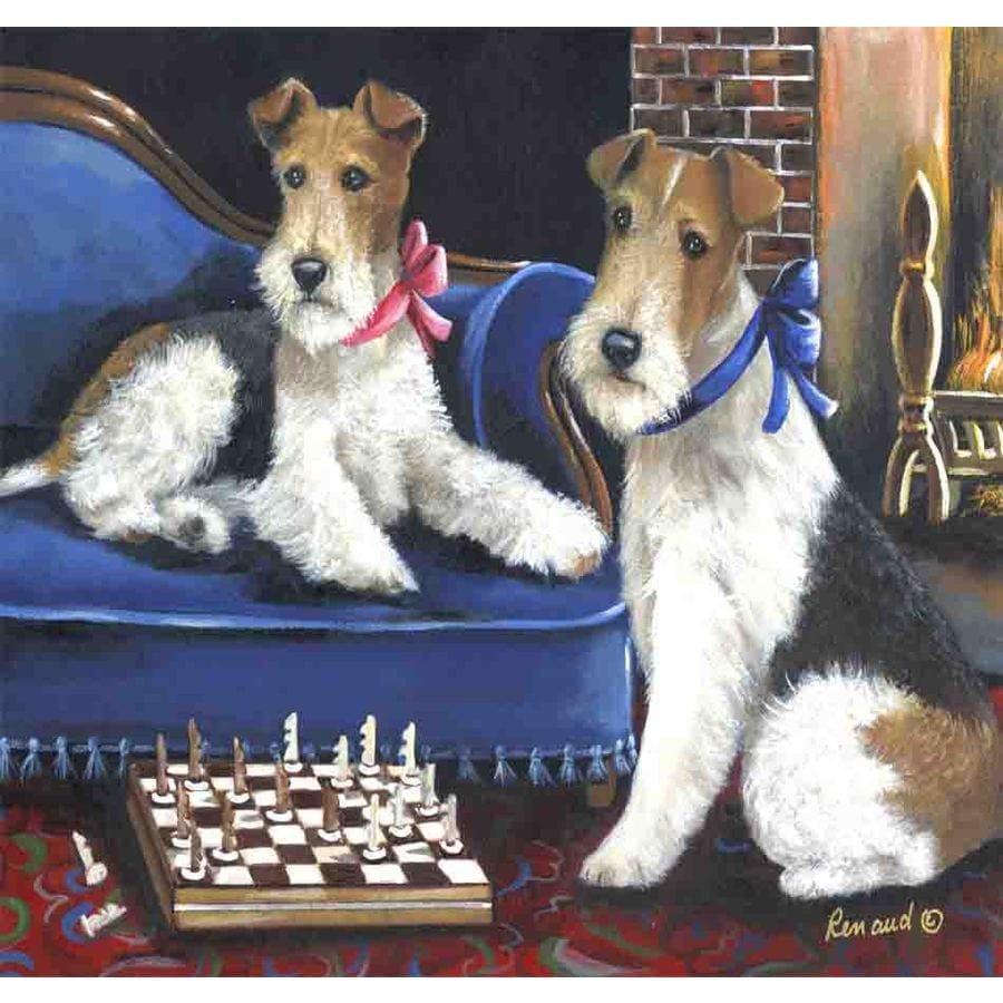 Precious Pet Paintings 1.5-ft x 1.04-ft Fox Terrier  Flag