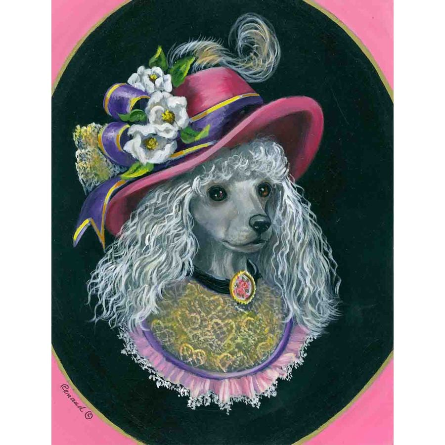 Precious Pet Paintings 1.5-ft x 1.04-ft Poodle  Flag