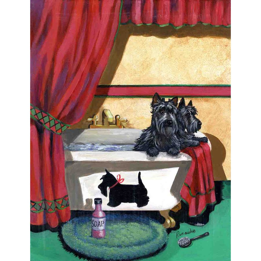 Precious Pet Paintings 1.5-ft x 1.04-ft Scottish Terrier  Flag