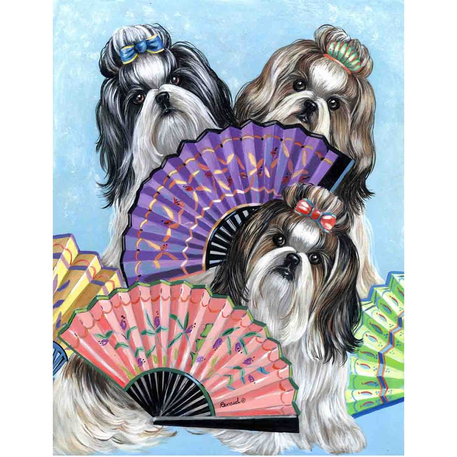 Precious Pet Paintings 1.5-ft x 1.04-ft Shih Tzu  Flag