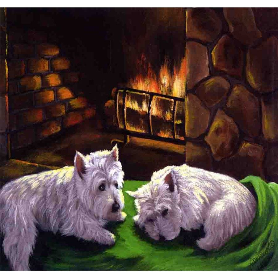 Precious Pet Paintings 1.5-ft x 1.04-ft West Highland Terrier Winter Flag