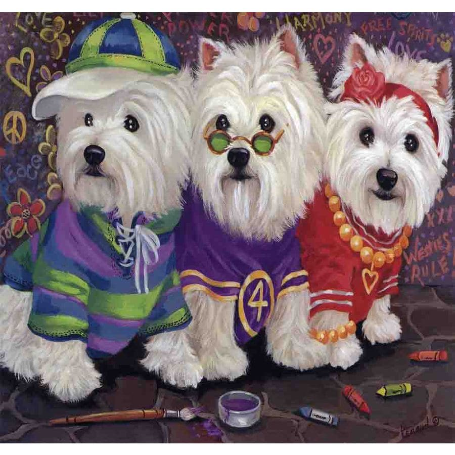 Precious Pet Paintings 1.5-ft x 1.04-ft West Highland Terrier  Flag