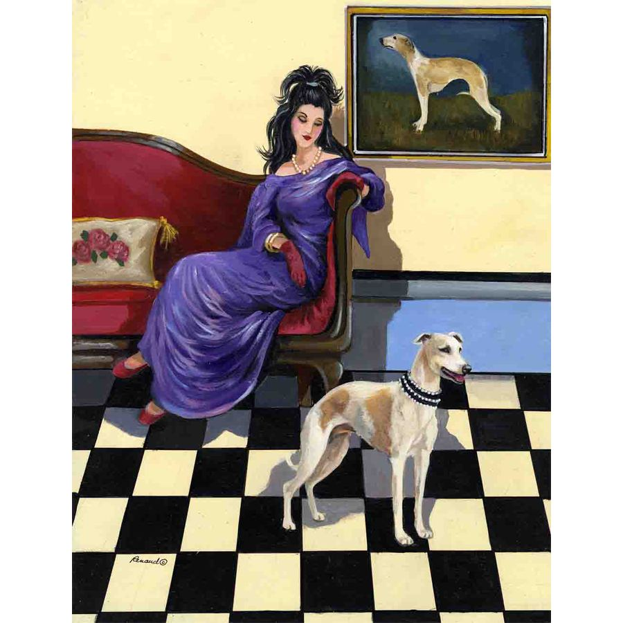 Precious Pet Paintings 1.5-ft x 1.04-ft Whippet  Flag