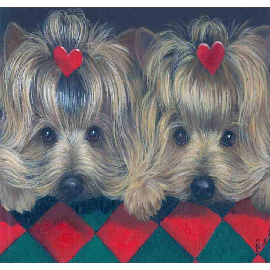Precious Pet Paintings 1.5-ft x 1.04-ft Yorkshire Terrier  Flag