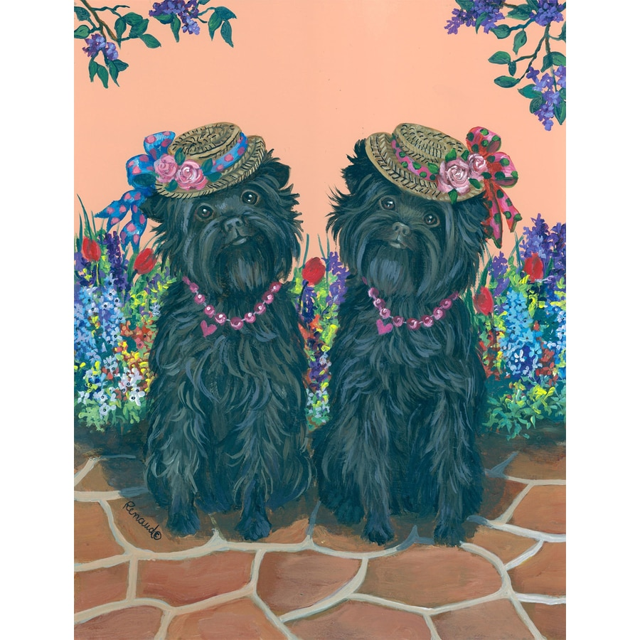 Precious Pet Paintings 3.33-ft x 2.33-ft Affenpinscher Spring Flag