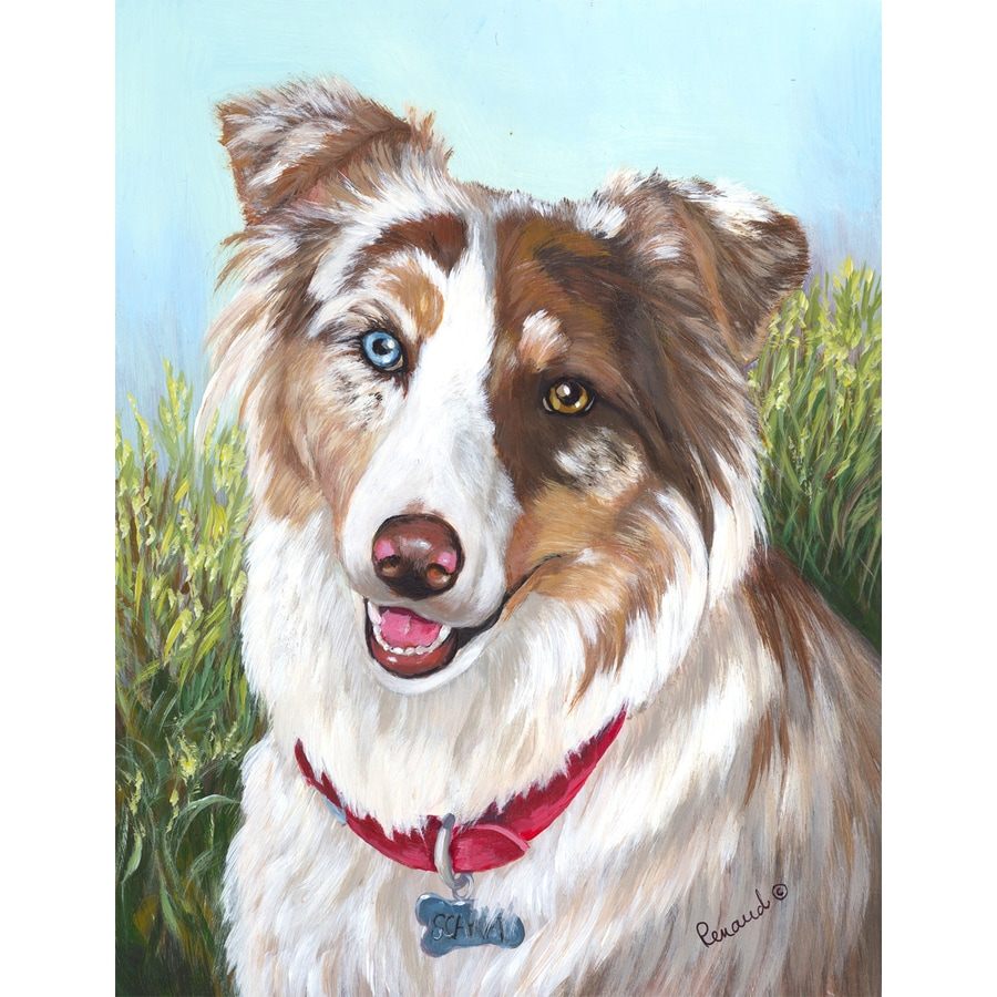 Precious Pet Paintings 3.33-ft x 2.33-ft Australian Shepherd  Flag