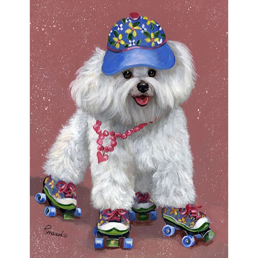Precious Pet Paintings 3.33-ft x 2.33-ft Bichon Frise Flag