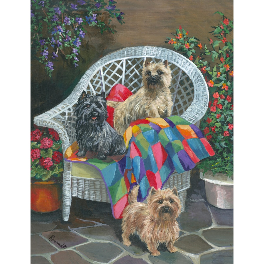 Precious Pet Paintings 3.33-ft x 2.33-ft Cairn Terrier Spring Flag