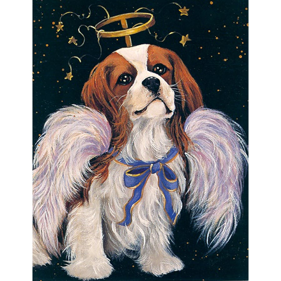 Precious Pet Paintings 3.33-ft x 2.33-ft Cavalier King Charles Spaniel  Flag