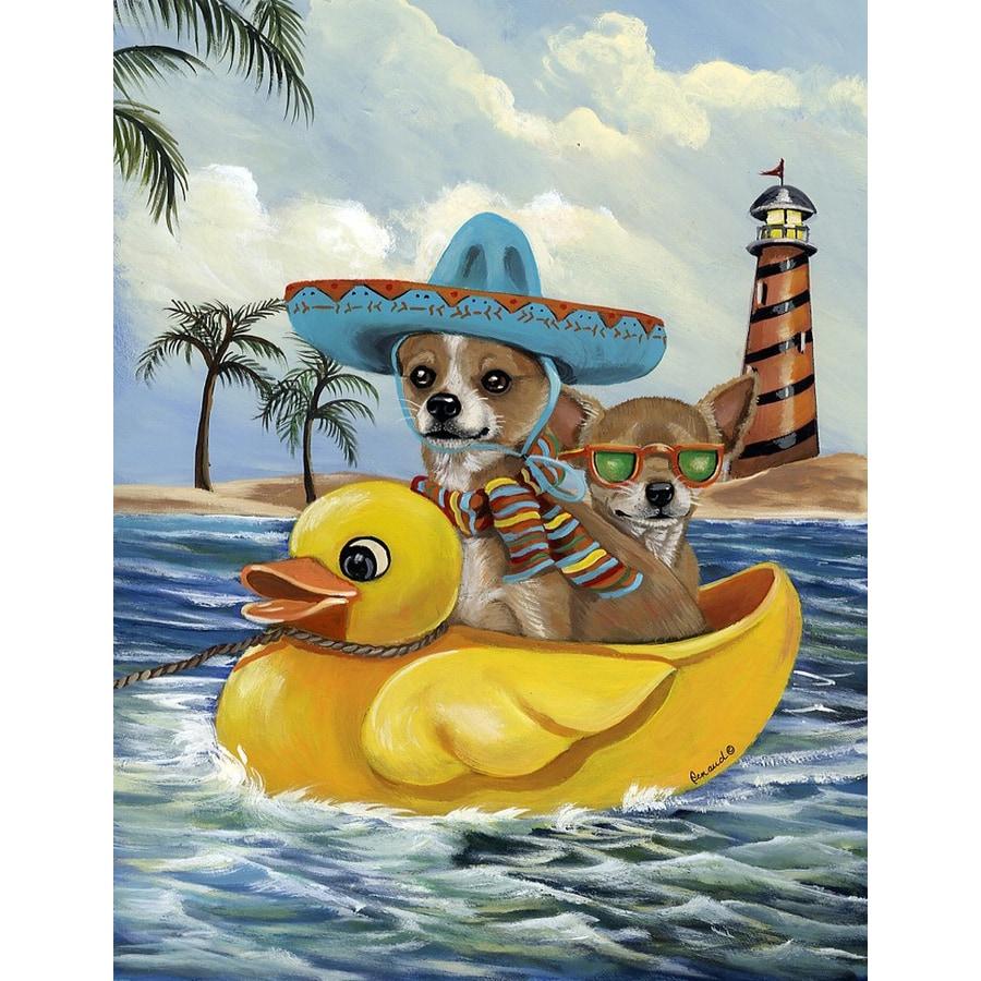 Precious Pet Paintings 3.33-ft x 2.33-ft Chihuahua Beach Flag
