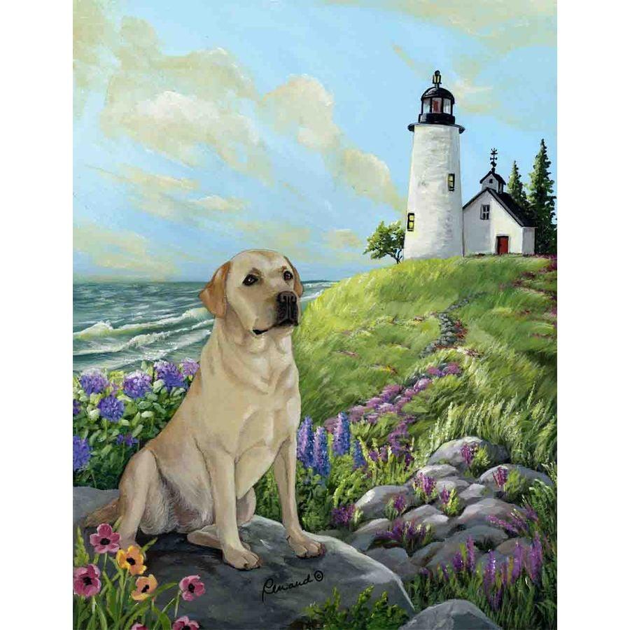 Precious Pet Paintings 3.33-ft x 2.33-ft Labrador Retriever Beach Flag
