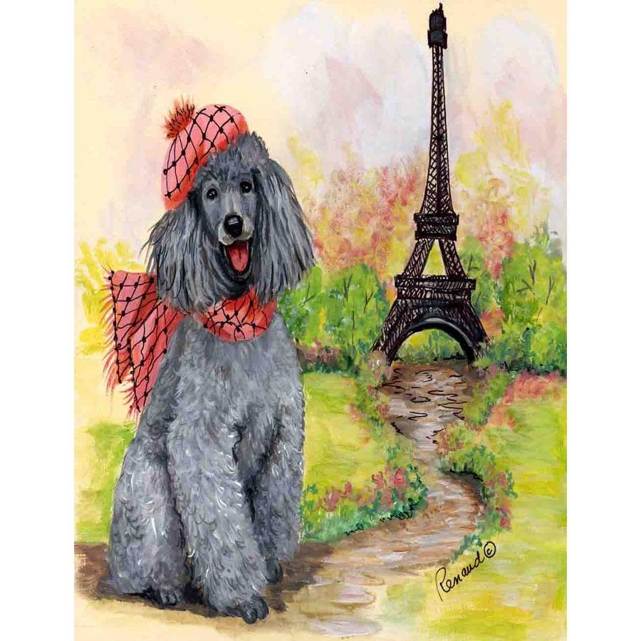 Precious Pet Paintings 3.33-ft x 2.33-ft Poodle  Flag