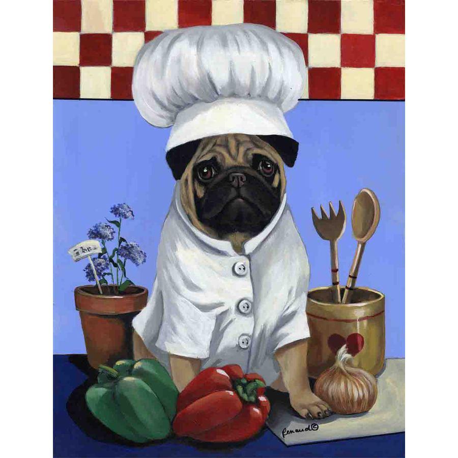 Precious Pet Paintings 3.33-ft x 2.33-ft Pug  Flag