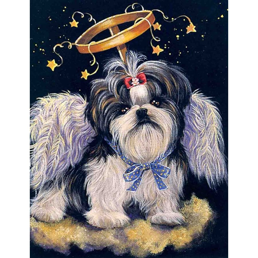 Precious Pet Paintings 3.33-ft x 2.33-ft Shih Tzu  Flag