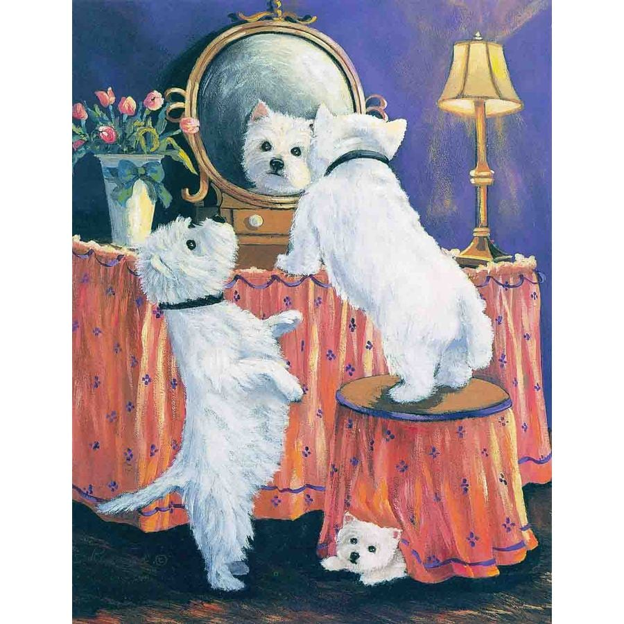 Precious Pet Paintings 3.33-ft x 2.33-ft West Highland Terrier  Flag
