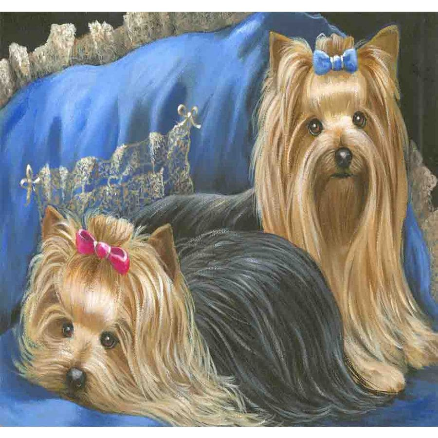Precious Pet Paintings 3.33-in x 2.33-in Yorkshire Terrier  Flag