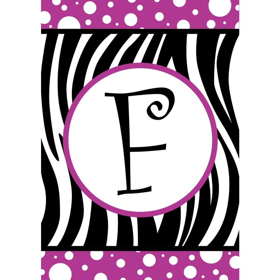 1.5-ft x 1.04-ft F Monogram Flag