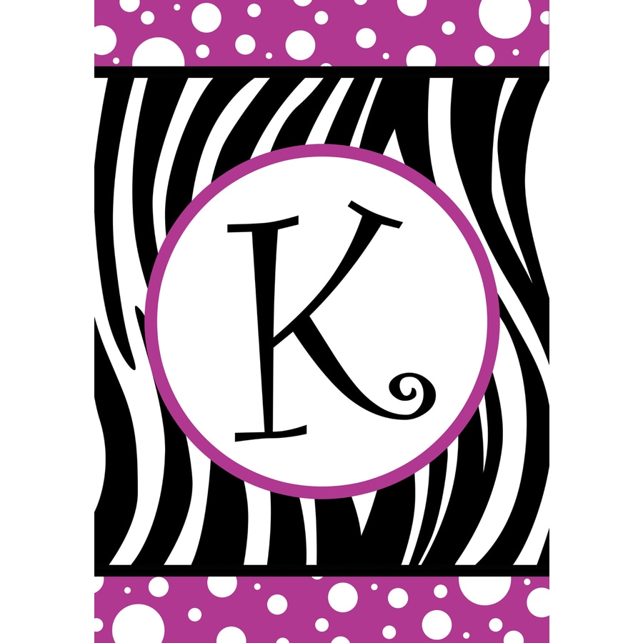 1.5-ft x 1.04-ft K Monogram Flag
