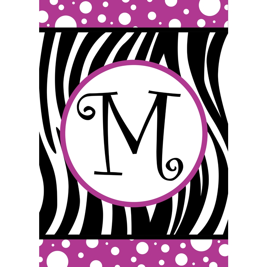 1.5-ft x 1.04-ft M Monogram Flag