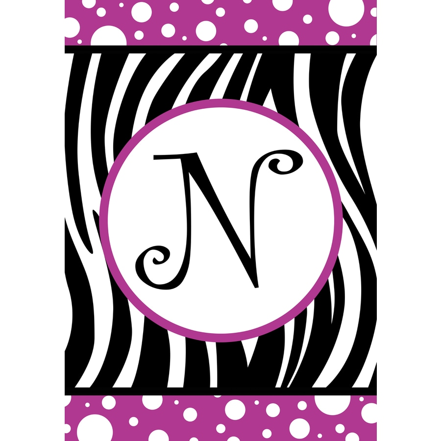 1.5-ft x 1.04-ft N Monogram Flag