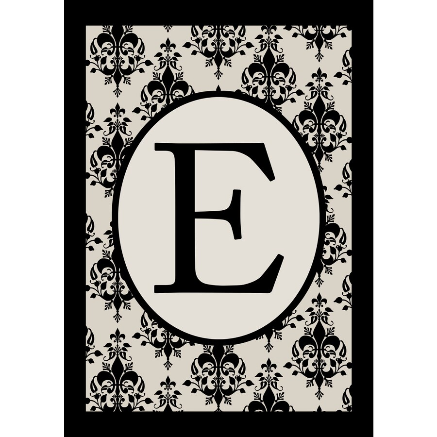 1.5-ft x 1.04-ft E Monogram Flag