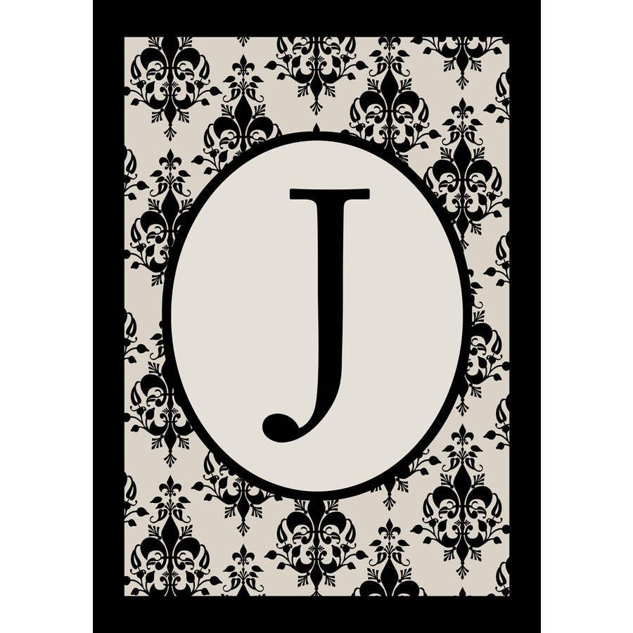 1.5-ft x 1.04-ft J Monogram Flag