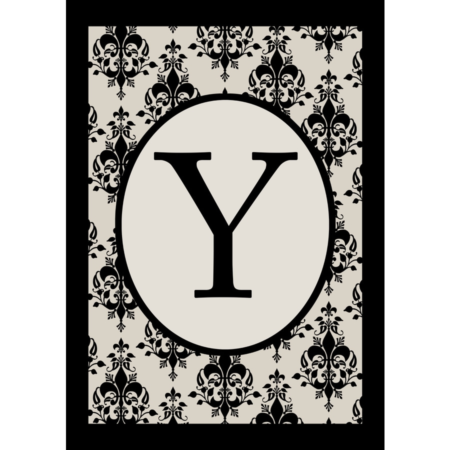 1.5-ft x 1.04-ft Y Monogram Flag