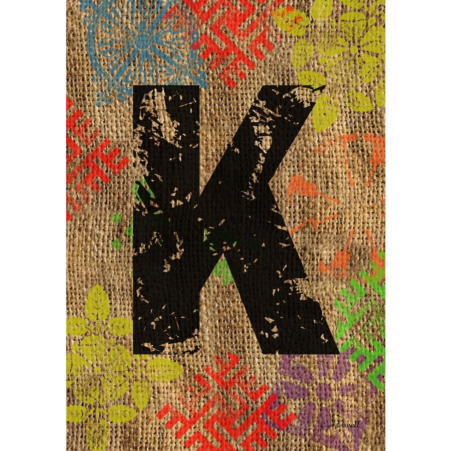 1.5-ft x 1.04-ft K Monogram Flag