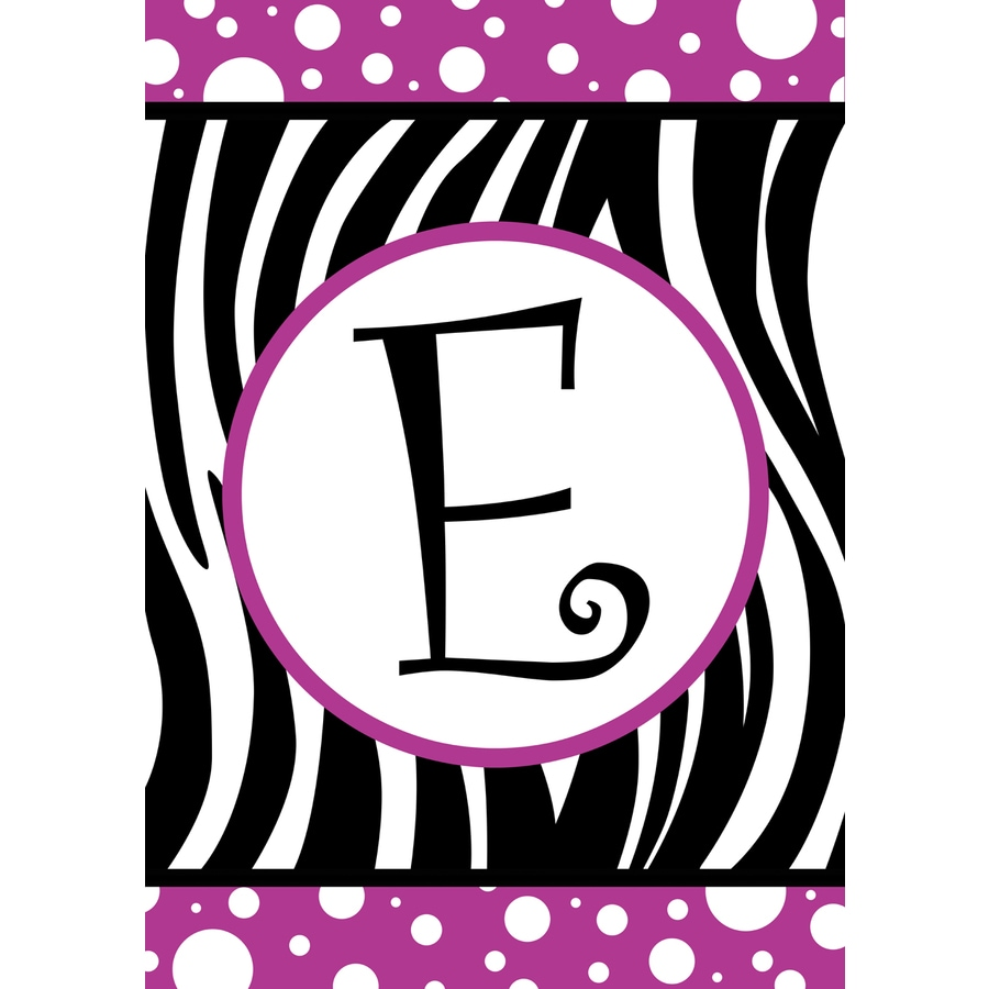 3.33-ft x 2.33-ft E Monogram Flag