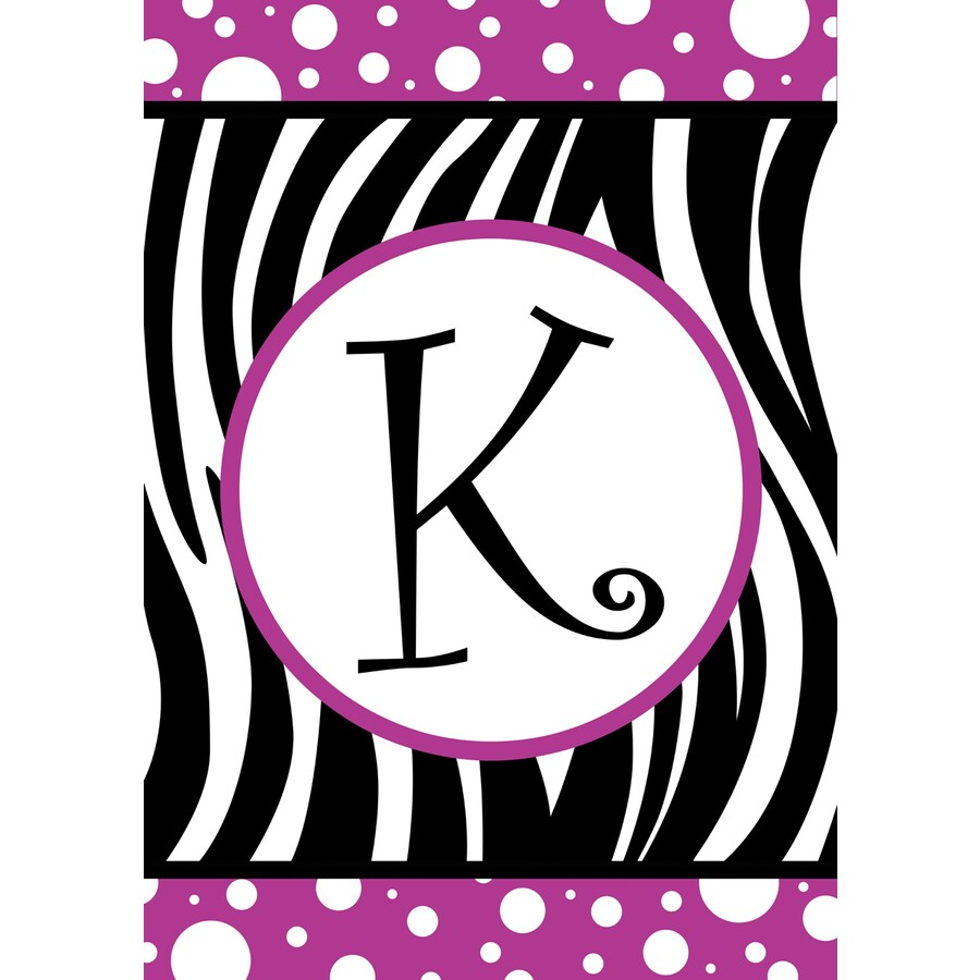 3.33-ft x 2.33-ft K Monogram Flag