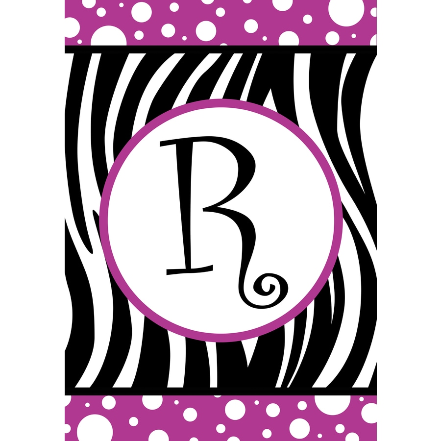 3.33-ft x 2.33-ft R Monogram Flag