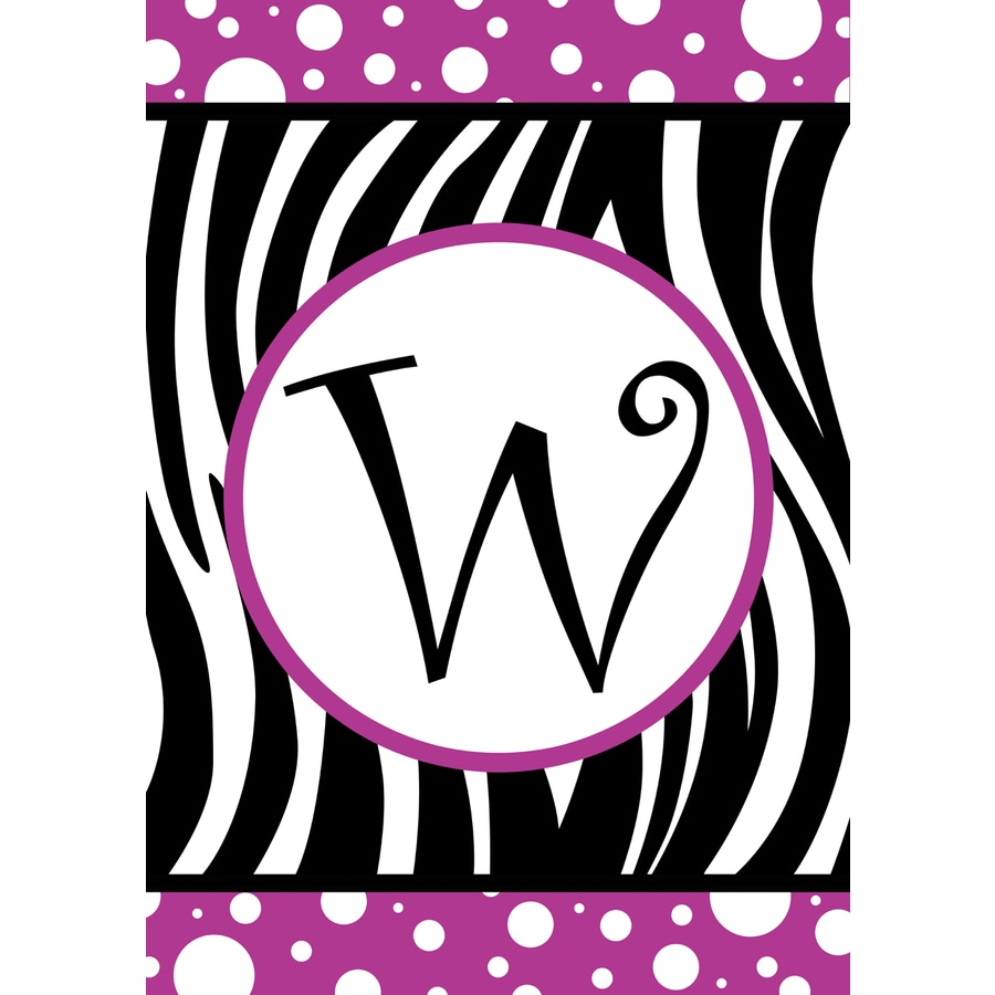3.33-ft x 2.33-ft W Monogram Flag