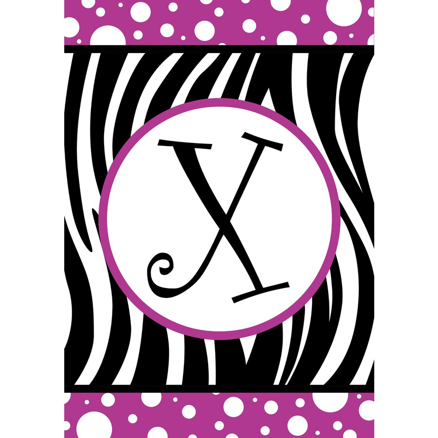 3.33-ft x 2.33-ft X Monogram Flag