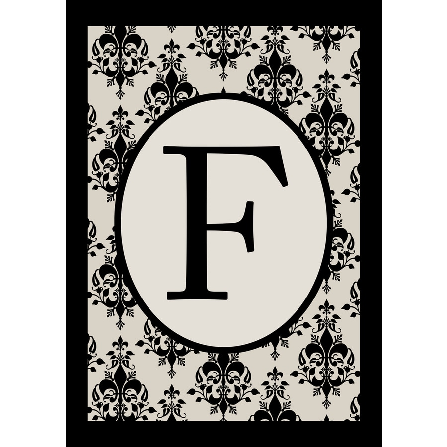 3.33-ft x 2.33-ft F Monogram Flag