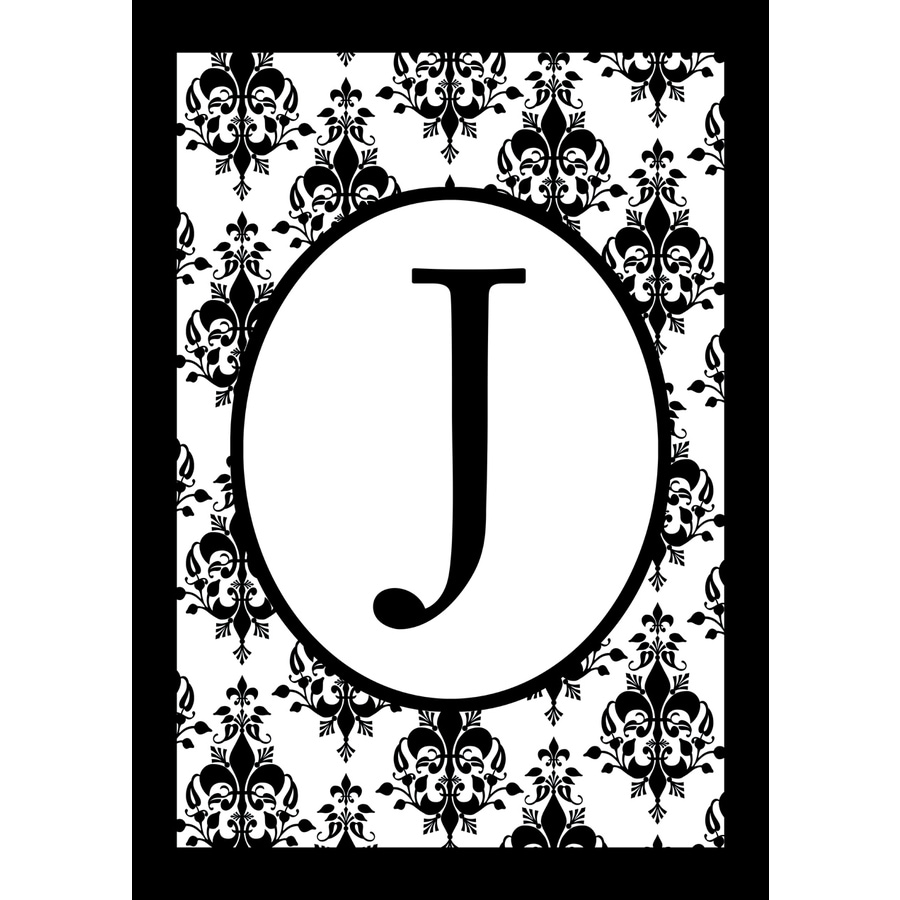 3.33-ft x 2.33-ft J Monogram Flag