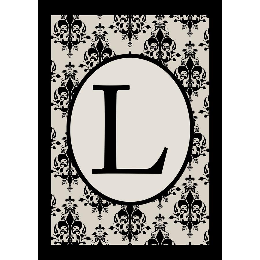Shop x l monogram flag at for Monogram homes floor plans