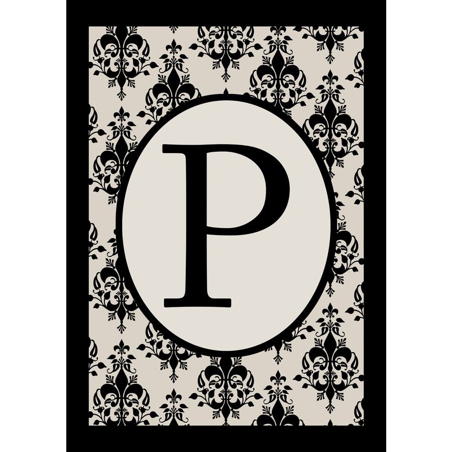 3.33-ft x 2.33-ft P Monogram Flag