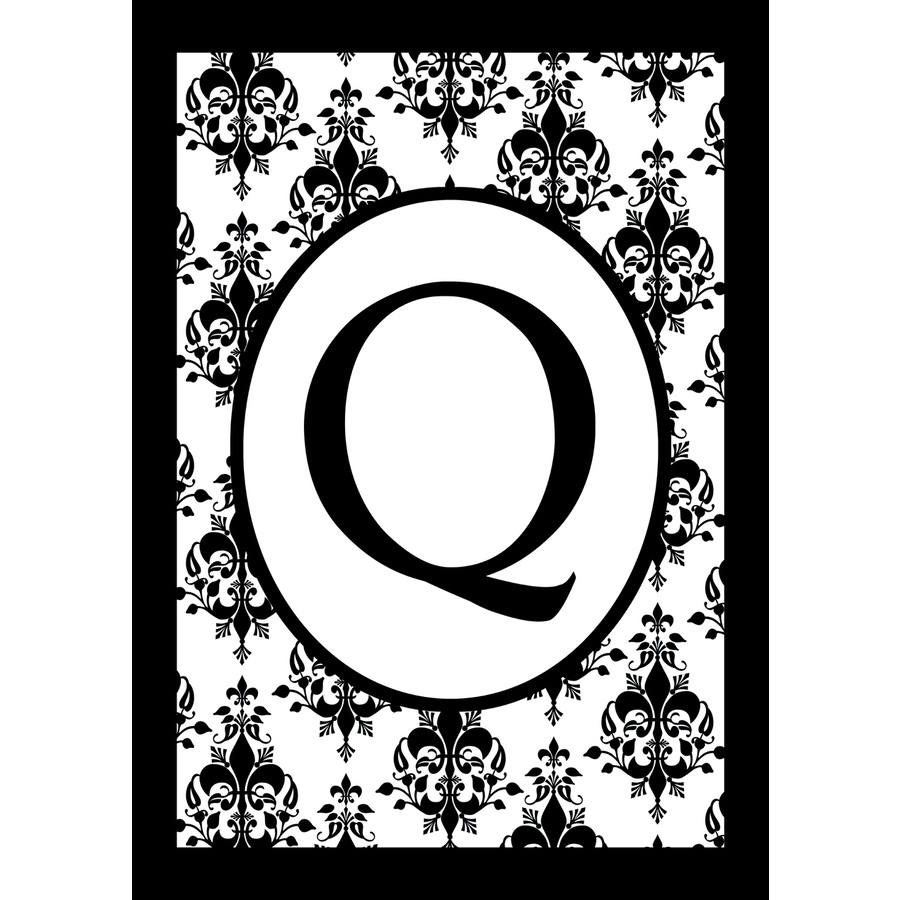 3.33-ft x 2.33-ft Q Monogram Flag