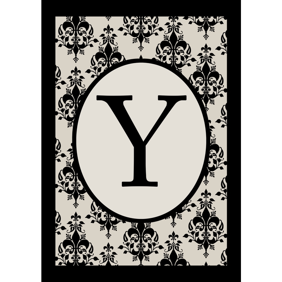 3.33-ft x 2.33-ft Y Monogram Flag