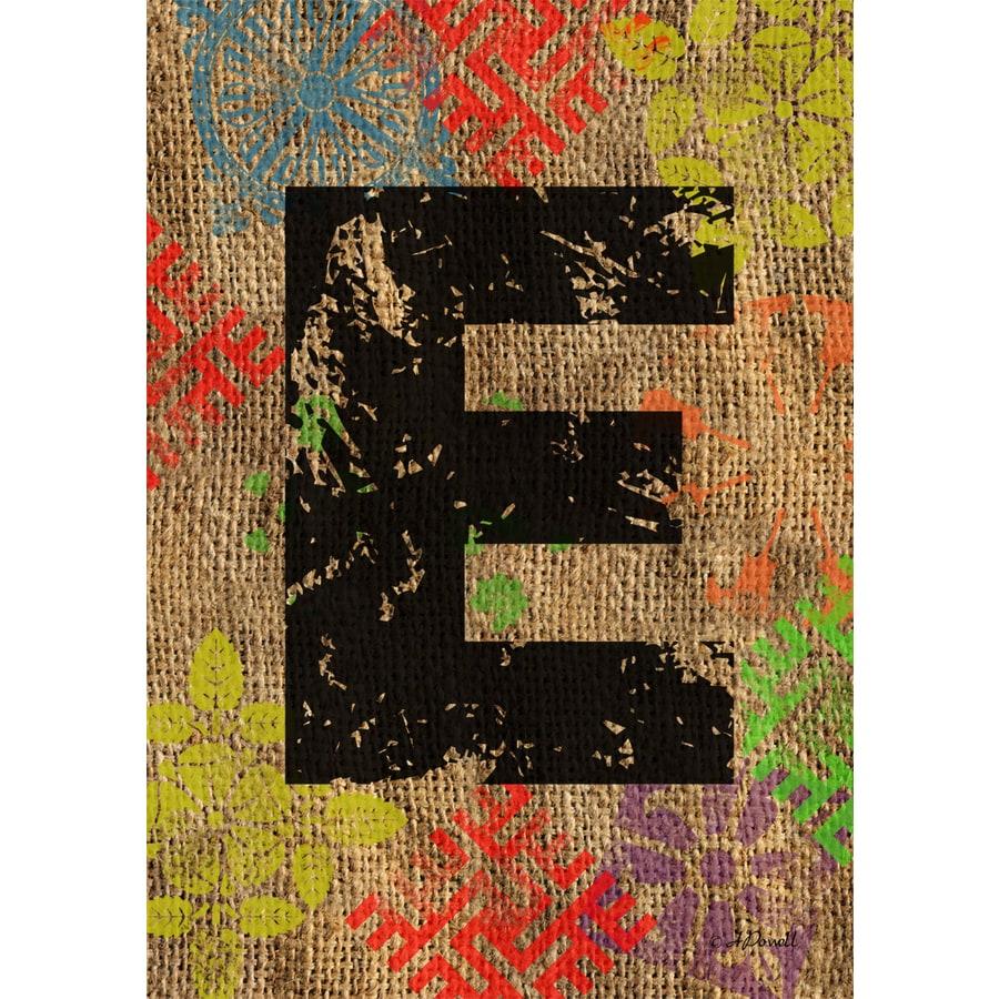 3.33-ft x 2.33-ft E Monogram Flag