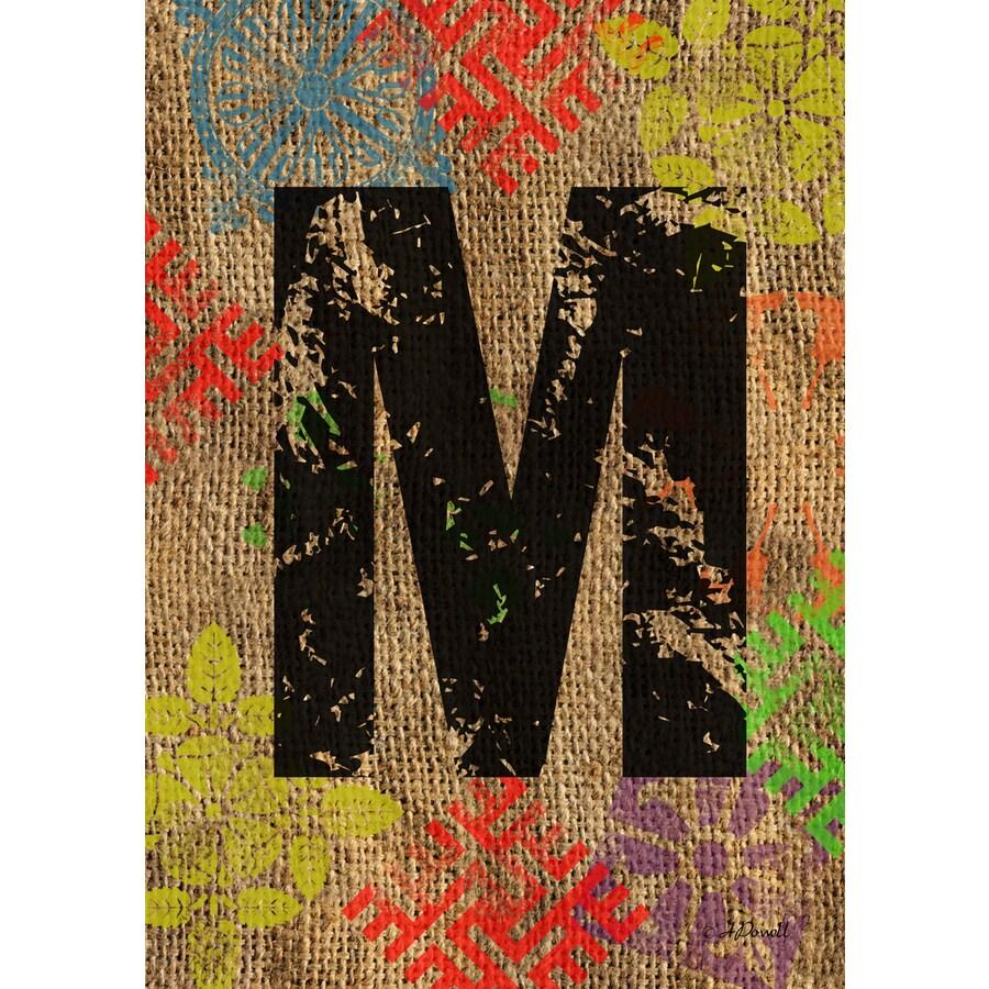 3.33-ft x 2.33-ft M Monogram Flag