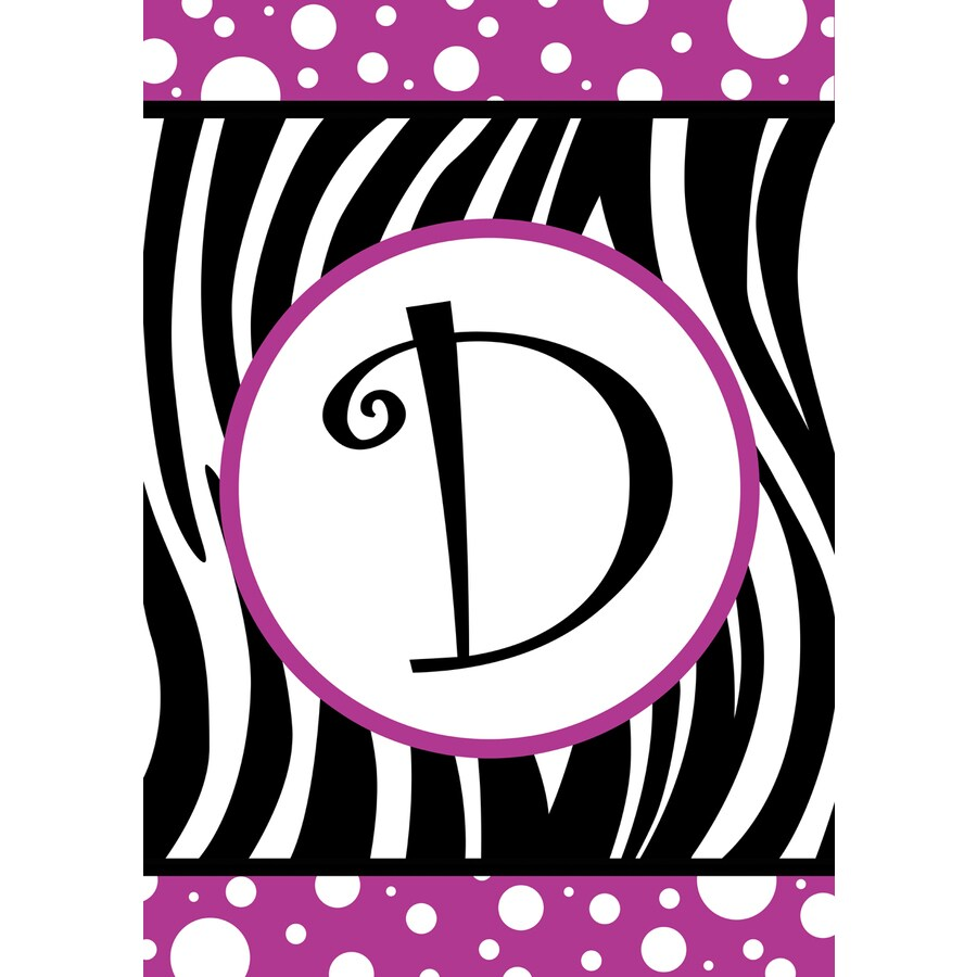 Rain or Shine 1.5-ft x 1.04-ft D Monogram Flag