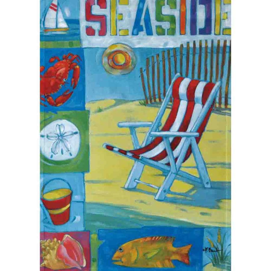 Rain or Shine 1.5-ft x 1.04-ft Beach Garden Flag