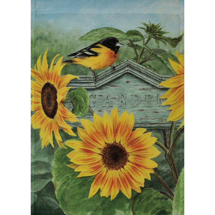 Rain or Shine 1.5-ft x 1.04-ft Birds Garden Flag