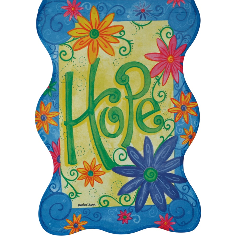 Rain or Shine 1.04-ft W x 1.5-ft H Inspirational Garden Flag